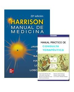 HARRISON MNL. MED. INTERNA + MNL. PRACTICO CONSULTA TERAPEUTICA.