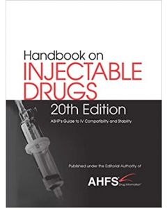 HANDBOOK ON INJECTABLE DRUGS 20 ED.