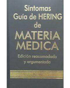 SÍNTOMAS GUÍA DE HERING DE MATERIA MEDICA VOL 5