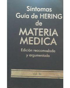 SINTOMAS GUIA DE HERING DE MATERIA MEDICA VOL 3